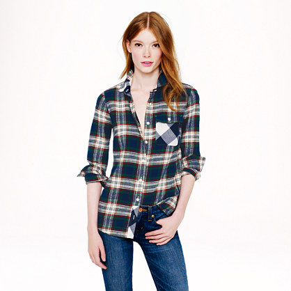 Loose Plaid Shirt