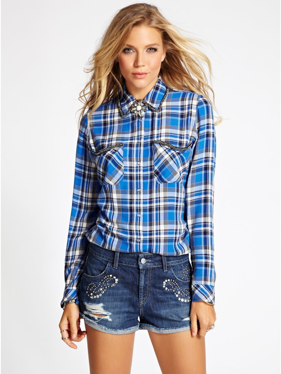 Lunchtime buy american apparel unisex plaid shirt slim for Buy plaid shirts online