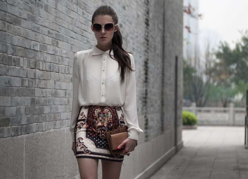Short Skirt With Embroidery