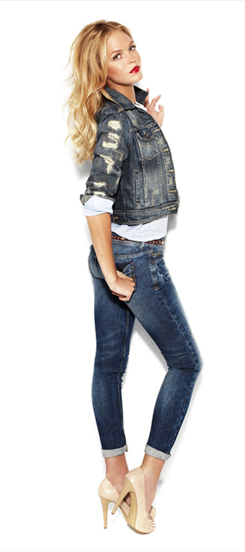 Zanzea Fork Pockets Hip Jeans