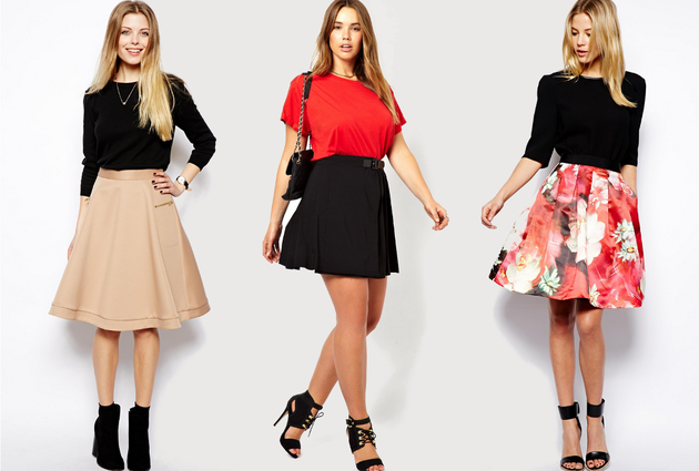 Fashion PU leather A-line Skirt in 2014 - Slim Fashion