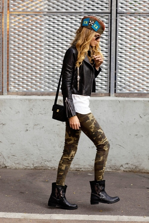 Clothes stores. Camouflage fashion clothing