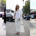 Women Pencil White Pants