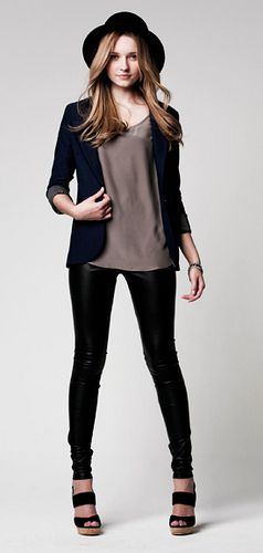 fashion chiffon long-sleeve blazer
