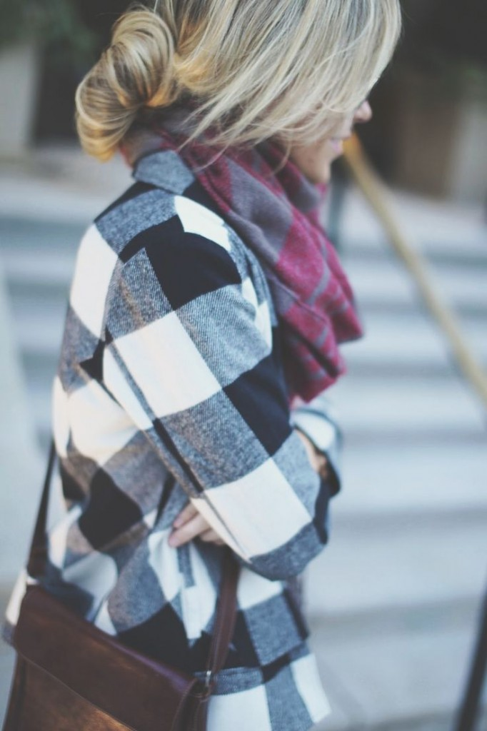 Fashion Loose Plaid Blouse