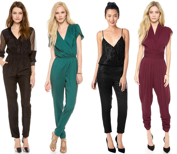 Backless V Neck Jumpsuits