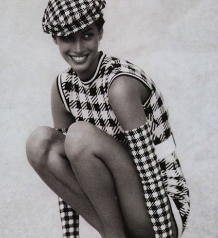 Classical Houndstooth Plaid Dress