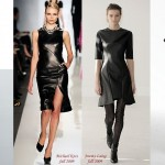 PU Leather Zipper Dress
