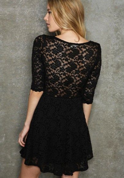 Sexy Hollow Lace Sheath