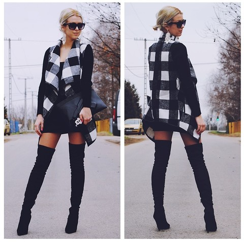 Plaid Belt Coat