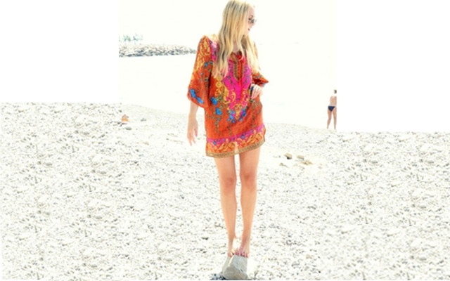 Hot Vintage Floral Print Dress for your Beach Party ...