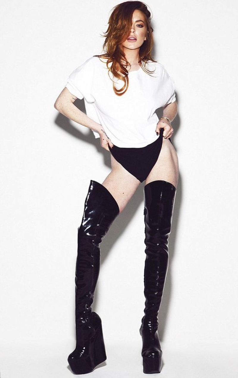 lindsay lohan in notion magazine