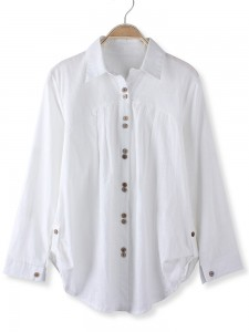 long sleeves white shirt
