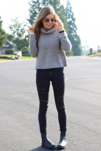 Women Batwing Hole Sweater