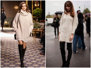 women knitted dress